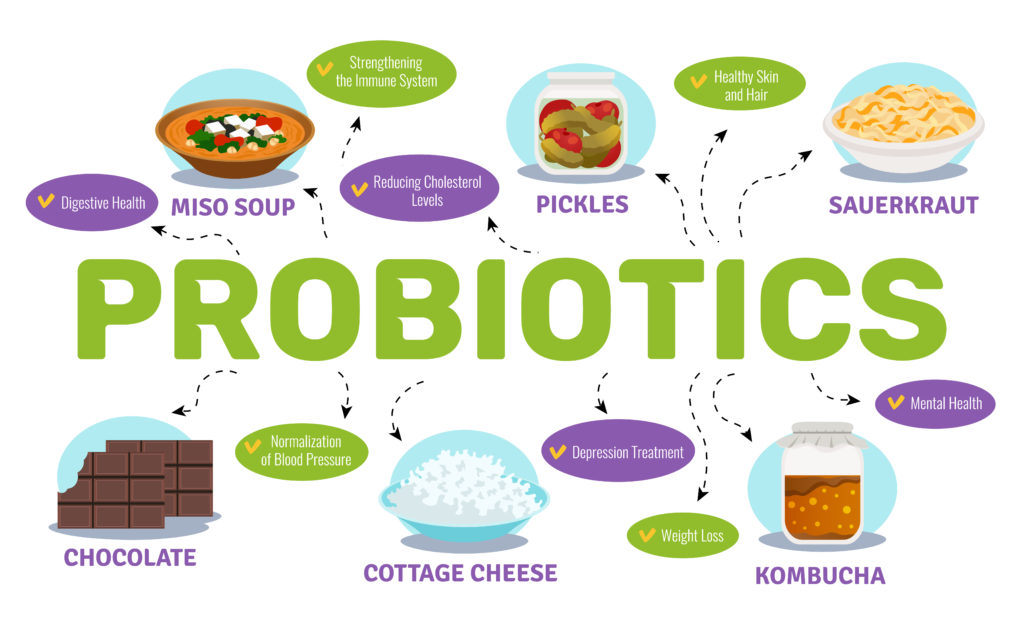 Probiotics And Health Concept