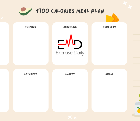 1700 Calories Meal Plan