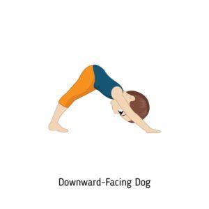 downward facing dog pose