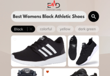 Womens Black Athletic Shoes